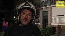 Bomberos detallan la intervención en el incendio de Carabanchel
