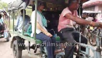 Life of a local through the eyes of a Princess,  Riding in a Jugaad (a motorcycle with a trolly ), down a bumpy road, Gosaba, Sundarbans, via Malta RIver, Bindiyadhari River and Datta River ,  West Bengal