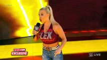 Dana Brooke flexes with San Jose during the commercial break- Raw Exclusive, June 10, 2019