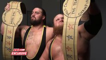 Heavy Machinery pose with the Yolo County Tag Team Titles-SmackDown Exclusive, June 11, 2019