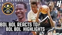 Bol Bol Reacts To Bol Bol Highlights- - DENVER NUGGETS 44TH OVERALL PICK