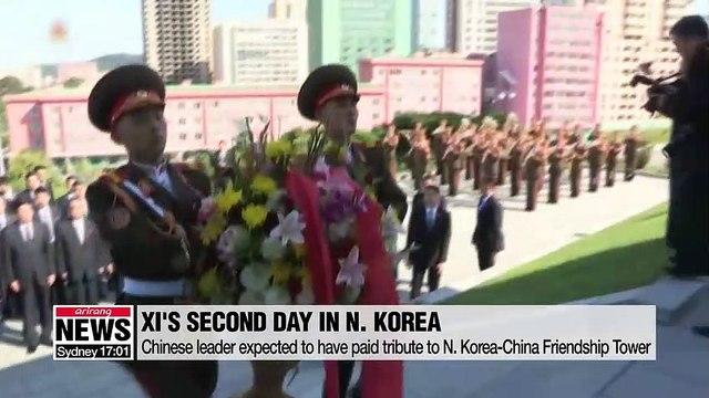 China's Xi wraps up N. Korea visit