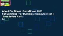 About For Books  QuickBooks 2018 For Dummies (For Dummies (Computer/Tech))  Best Sellers Rank : #4