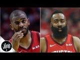 Chris Paul reacts on social media to news of rift with James Harden - The Jump