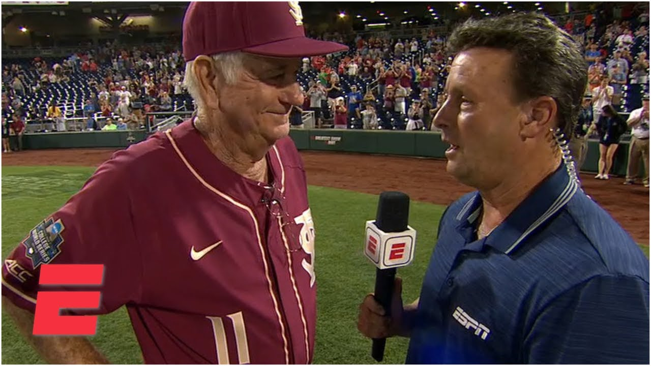 FSU coach Mike Martin interview after final game of 40-year career – College World Series