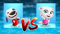My Talking Hank vs My Talking Angela — Talking Tom Gold Run — Cute Puppy and Cats
