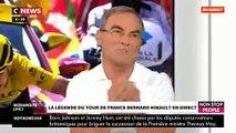 """Le coup de colère de Bernard Hinault contre Jean-Marc Morandini: """"Il faut que tu arrêtes de parler de dopage dans le cyclisme! Et les sports, tu en parles jamais ?"""" - VIDEO"""