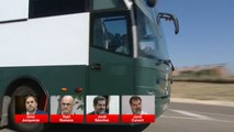 """Junqueras, Romeva y """"los jordis"""", de camino a Cataluña"""