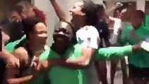 Football - World Cup - Super Falcons players, officials, get emotional after dramatic qualification