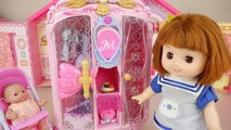 Baby doll jewelry and dress beauty bag play baby Doli house
