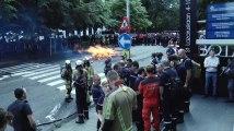 Manifestation des pompiers à Bruxelles