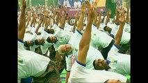 Watch: India PM Modi leads 25,000 yoga devotees for International Yoga Day