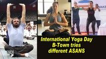International Yoga Day: B-Town tries different ASANS