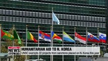UNSC exempts 22 projects from sanctions placed on N. Korea this year