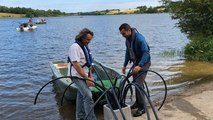 Lac du Marillet en Vendée. Installation de récifs artificiels
