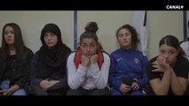 Les  ados de LIONNES découvrent stupéfaites les débuts du foot féminin avec  Michèle Monier, ex capitaine de l'équipe de France et Amel Majri