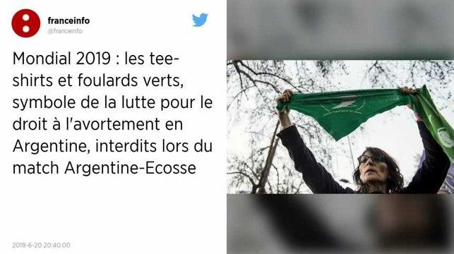 Coupe du monde féminine. Des militants pro-avortement habillés en vert refoulés du Parc des Princes