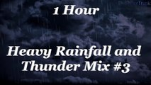 Heavy rain and thunder, Rainfall Nature sounds, Relaxation