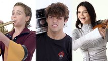 Emilia Clarke, Noah Centineo, Kendall Jenner and More Celebrities Try Musical Things They've Never Done Before