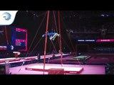 Roman VASHCHENKO (UKR) - 2018 Artistic Gymnastics Europeans, junior rings final