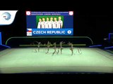 Czech Republic - 2019 Rhythmic Gymnastics Europeans, junior groups 5 ribbons qualification
