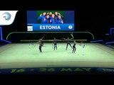 Estonia - 2019 Rhythmic Gymnastics Europeans, junior groups 5 ribbons qualification