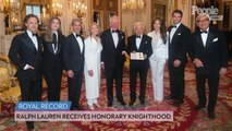 Ralph Lauren Receives Honorary U.K. Knighthood from Prince Charles at Buckingham Palace