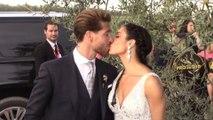 Sergio Ramos y Pilar muestran cómo fue su boda por dentro