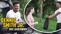 DENNIS SMITH JR. SURPRISES STRANGERS IN NYC WITH FREE GEAR-