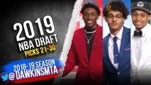 2019 NBA Draft - Picks 21-30 - Jordan Poole, Nassir Little, Keldon Johnson