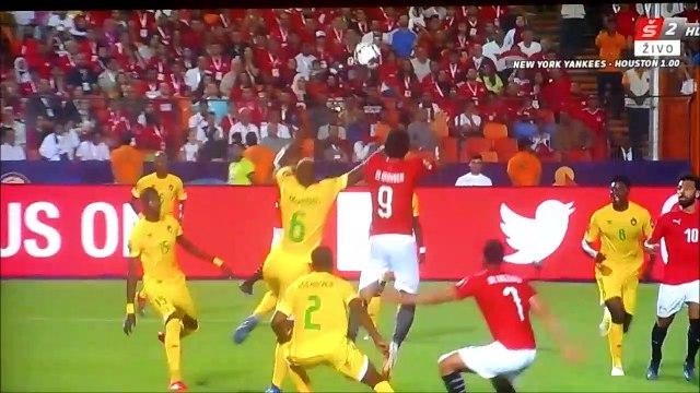 Marwan Mohsen terrible clash of heads vs Zimbabwe