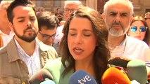 """Arrimadas: """"Cuando Sánchez hable con Torra no estará hablando con toda Cataluña"""""""