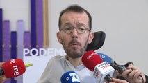 Echenique insiste en Gobierno de coalición PSOE-Unidos Podemos