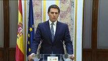 """Rivera: """"Habrá que estar atento a las hipotecas que nos deja Sánchez de las manos de Torra, Puigdemont y Bildu"""""""