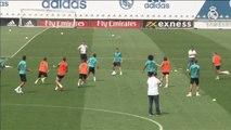 Penúltimo entrenamiento del Madrid antes de viajar a Kiev