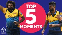 Malinga or Udana? - England vs Sri Lanka - Top 5 Moments - ICC Cricket World Cup 2019