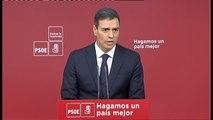 """Pedro Sánchez: """"Hemos pactado una respuesta firme, serena y proporcional"""""""