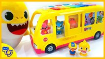 Baby Shark Kindergarten bus ride ~- Funny Pinkfong Song / Learning Videos for Kids - WeToy