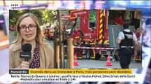 Incendie tôt ce matin dans le 11e arrondissement de Paris: Trois personnes décédées, une en urgence absolue, 27 dont un pompier en urgence relative