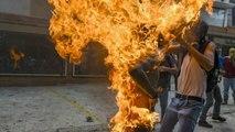 Un hombre envuelto en llamas en los disturbios de Venezuela, imagen ganadora del World Press Photo de este año
