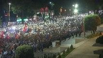En Albanie, les manifestants réclament toujours la démission du premier ministre Edi Rama
