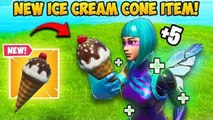 *NEW ITEM* ICE CREAM CONE!! - Fortnite Funny Fails and WTF Moments!