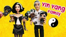 LOL Families - The Yin Yang Family - Toys and Dolls Pretend Play for Kids - SWTAD