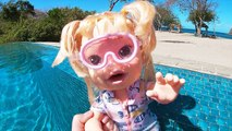 Baby Alive Goes Swimming and Snorkeling - Toys and Dolls Pretend Play for Kids - SWTAD