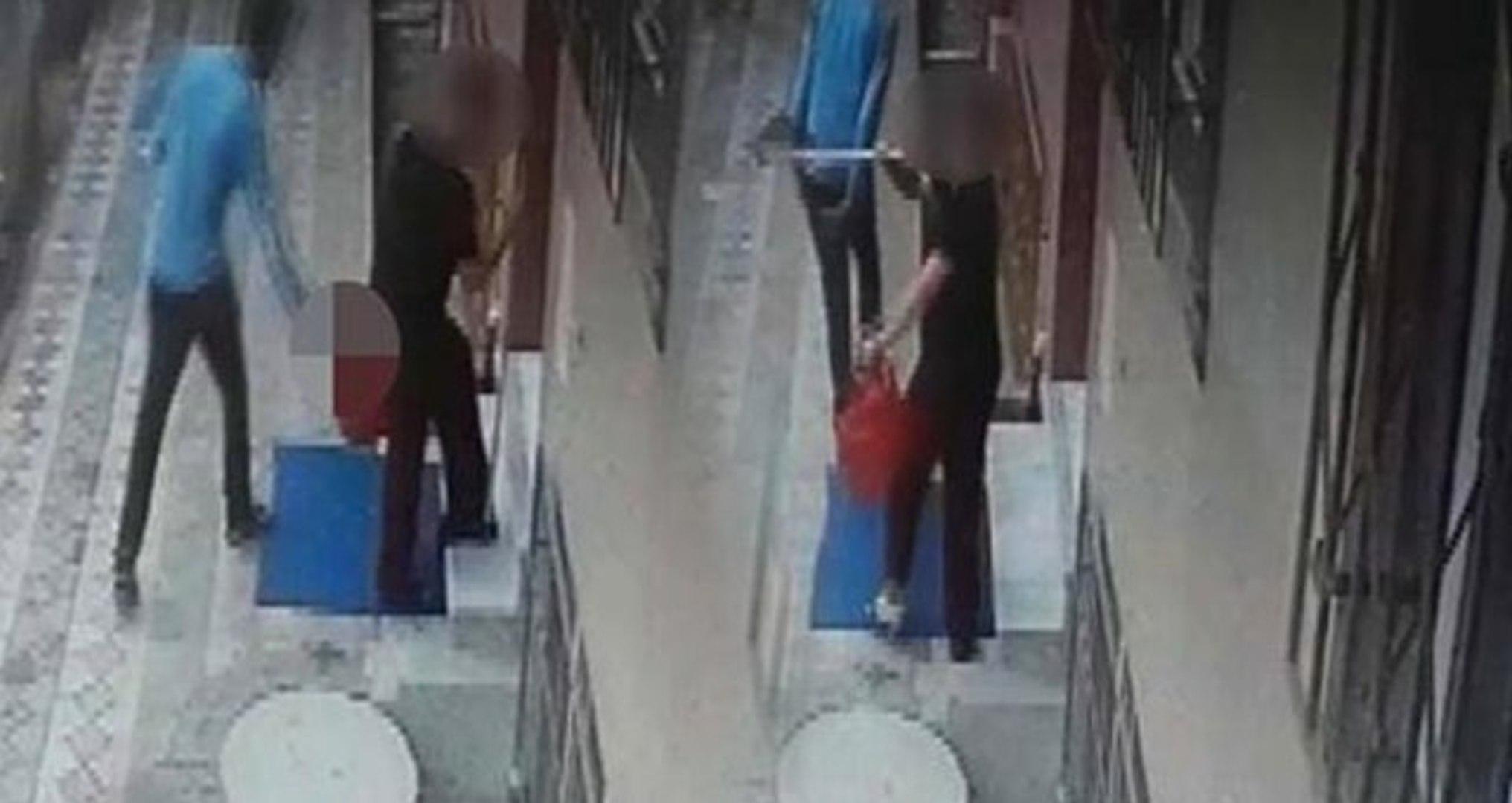 Temizlik yapan kadını taciz eden sapık bir anda neye uğradığını şaşırdı