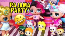 SWTAD LOL Families - Sleepover at the LOL House - Toys and Dolls Fun Pretend Play for Kids