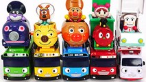 Let's go with the anpanman mini car- Let's run with Tayo in Tayo Namsan Mountain Road -PinkyPopTOY