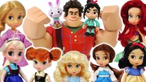 Wreck It Ralph 2- Let's party with Vanellope and Elsa~- Princess Disney all together- -PinkyPopTOY