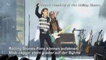 Mick Jagger steht wieder auf der Bühne