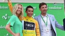 """Tour de Suisse 2019 - Egan Bernal : """"Es una sorpresa estar en amarillo después de esta prueba de tiempo"""""""